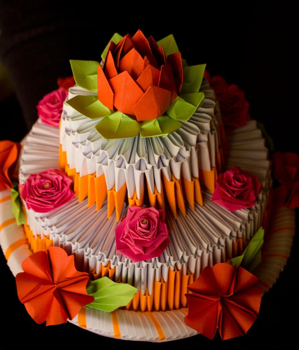 Papírvilág: Papírtorta / Origami Cake