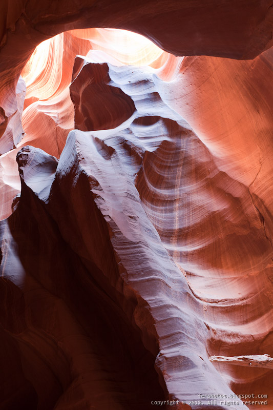 Antelope Canyon slot indian navajo Arizona light beam shadows