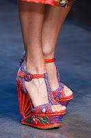 Плетени сандали на декорирана платформа Dolce & Gabbana