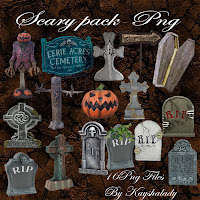 Scary pack PNG tubes halloween