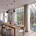 Parisian loft with a mid century modern vibe