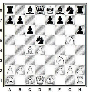 Posición de la partida de ajedrez Figueiras - Palma (Oporto, 1975)