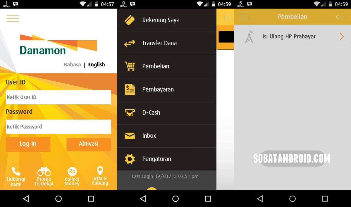 Cara Membeli Pulsa Menggunakan Aplikasi Android D-Mobile Danamon Mobile Banking