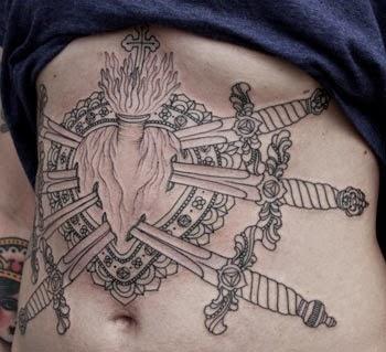 Tatuagem de coração pegando fogo significado