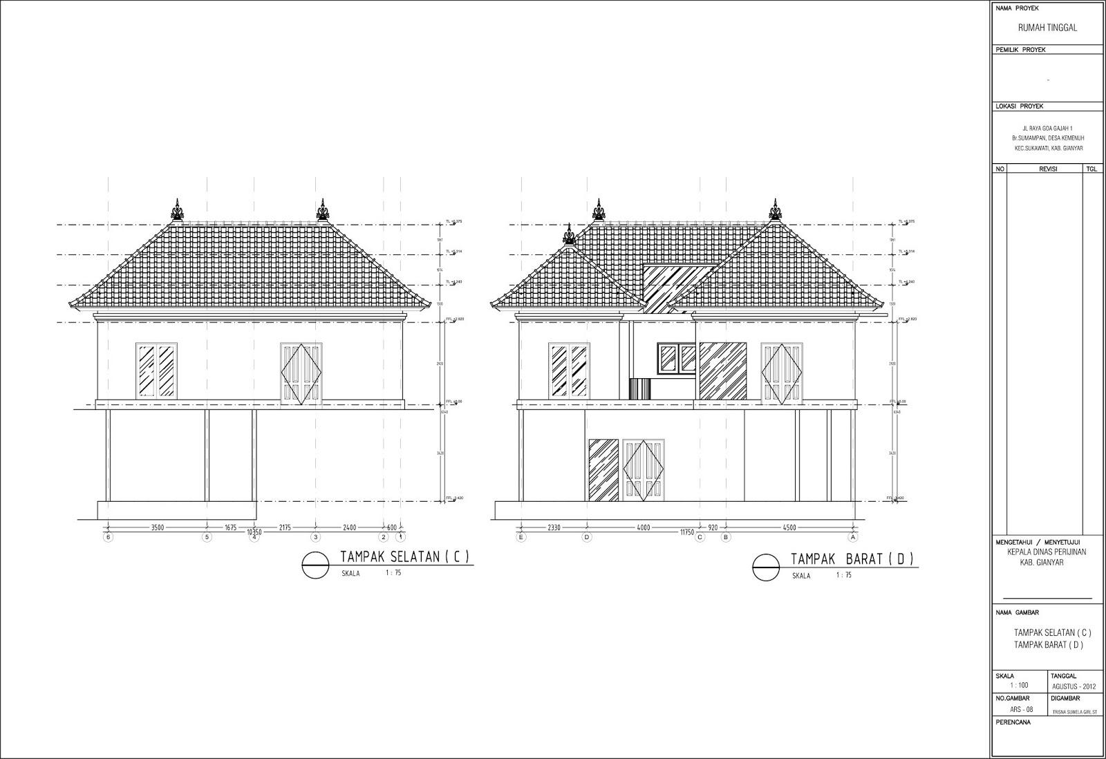 gambar imb rumah tinggal di kemenuh sukawati bali tsg