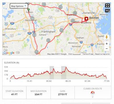 82 mile training ride.