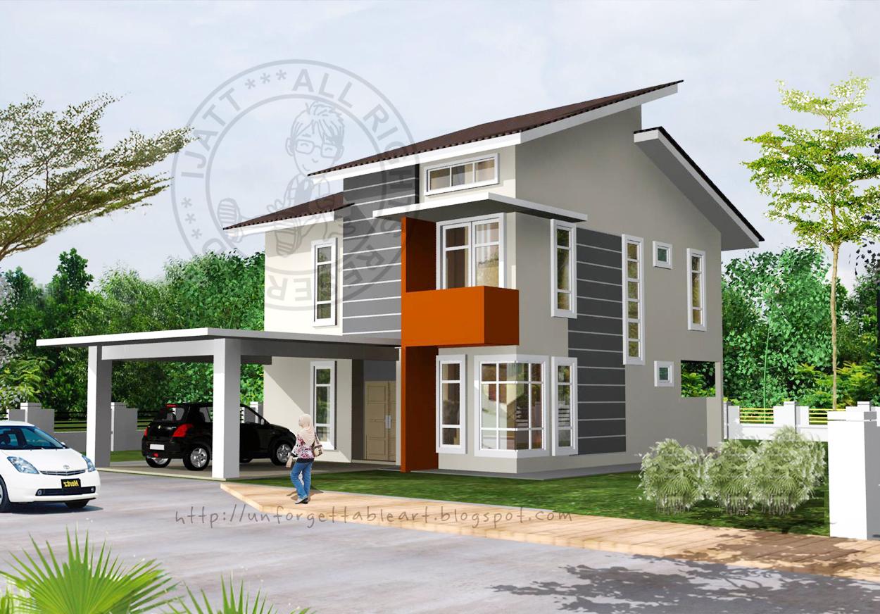 Rumah Modern Setingkat