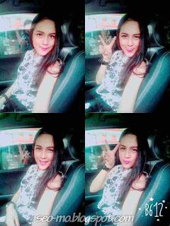 Gledys Veronica Selfie Di dalam Mobil