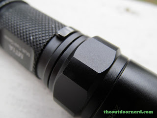 Nitecore MT1A AA Flashlight: Closeup of Anti Roll Ring