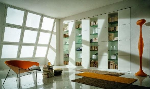 Unit pekerjaan telah dirancang dengan baik dikombinasikan dengan desain interior menjadikan sebuah karya yang menarik serta warna-warna yang membawa ruang ... & Terbaru - Ruang Tamu Modern Dengan Rak Buku oleh Mobilieffe ...