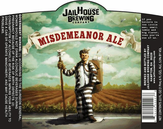 Jailhouse Brewing Misdemeanor Ale label