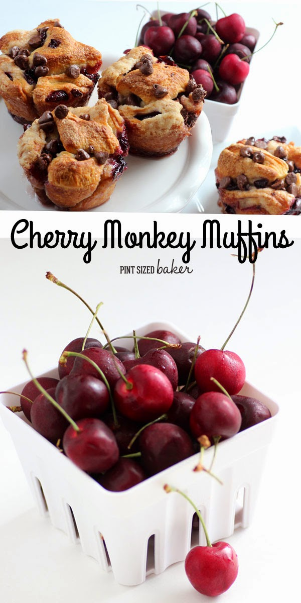 Cherry Stuffed Monkey Bread with Chocolate Chips is great for breakfast or dessert.