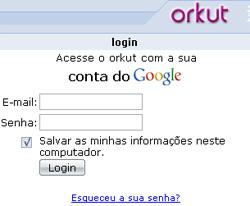 orkut login