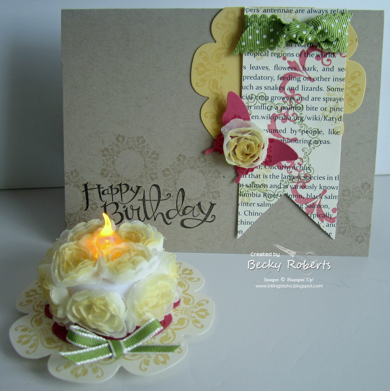 Inking Idaho: Happy Birthday Card & Cake