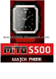 ponsel jam tangan Mito S500
