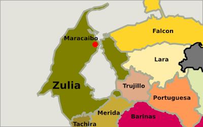 Mapa del estado Zulia Venezuela