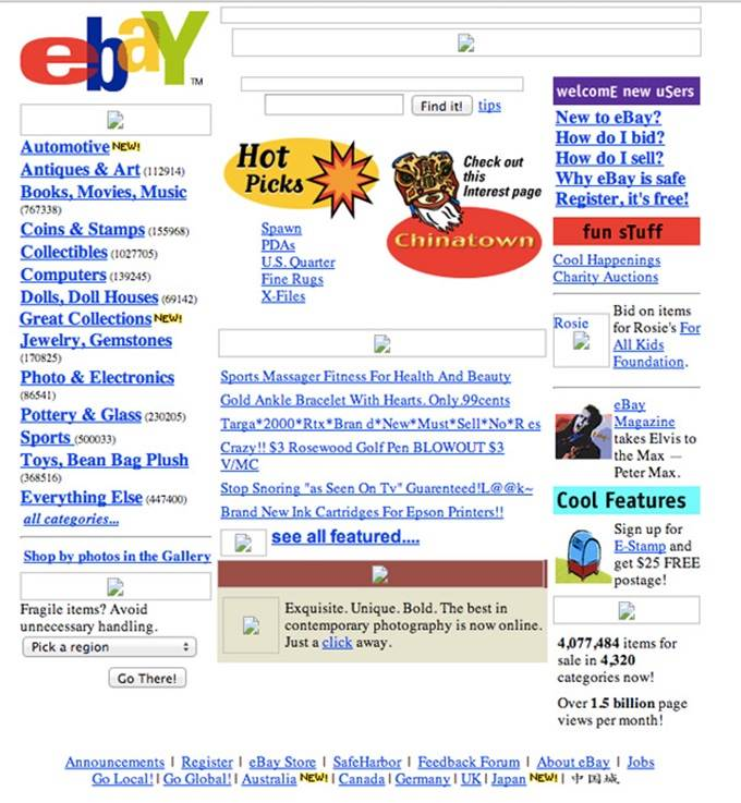 ebay website 2000
