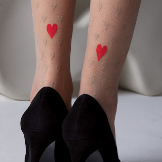heart pantyhose