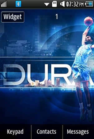Sports Kevin Durant Samsung Corby 2 Theme Wallpaper