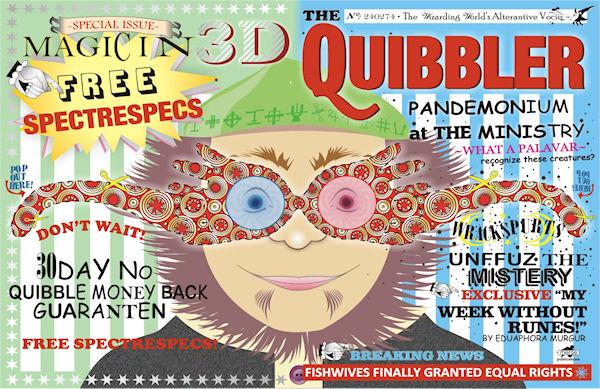 Quibbler Cover Planet Print: Harry Po...