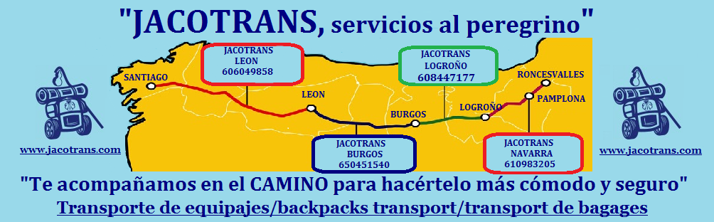 Transporte de mochilas, transporte de equipajes Camino de Santiago, backpack transport, luggage