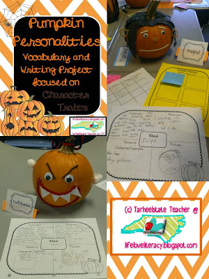 http://www.teacherspayteachers.com/Product/Pumpkin-Personalities-Vocabulary-and-Writing-Project30-Words-909745