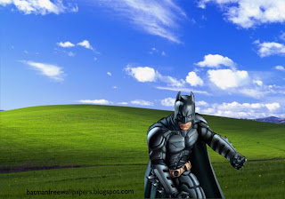 Desktop Wallpapers Batman Dark Knight Posing in Countryside Landscape wallpaper