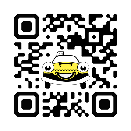Custom QR Code with a Taxi Cab