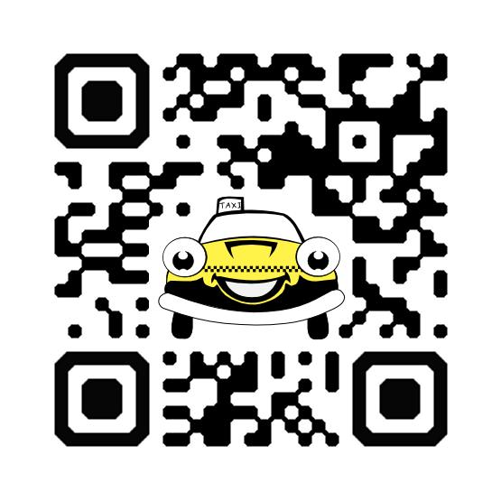 Custom QR Code with a Taxi Cab
