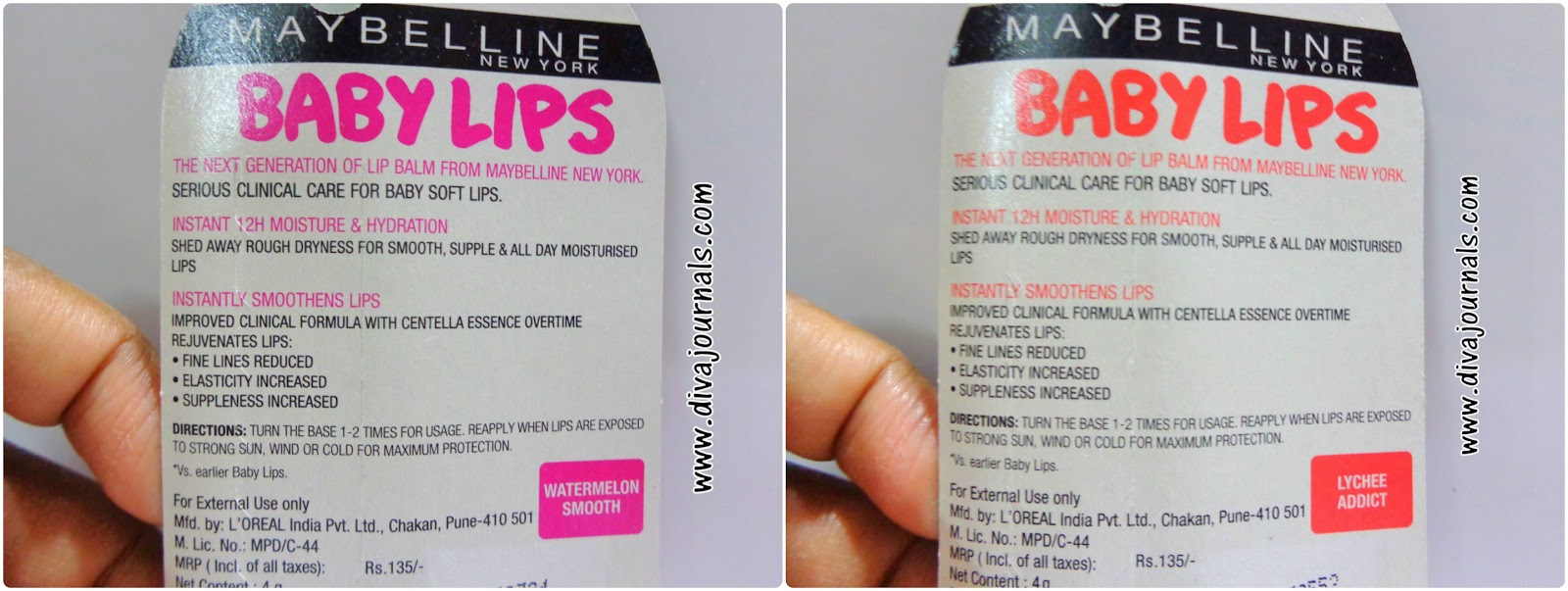 Maybelline Baby Lips Balm-Watermelon Smooth & Lychee Addict Reviews