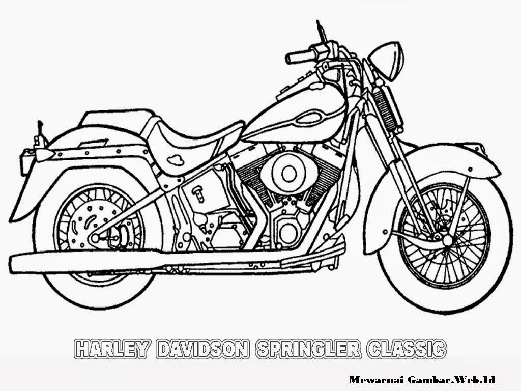 gambar motor keren untuk diwarnai