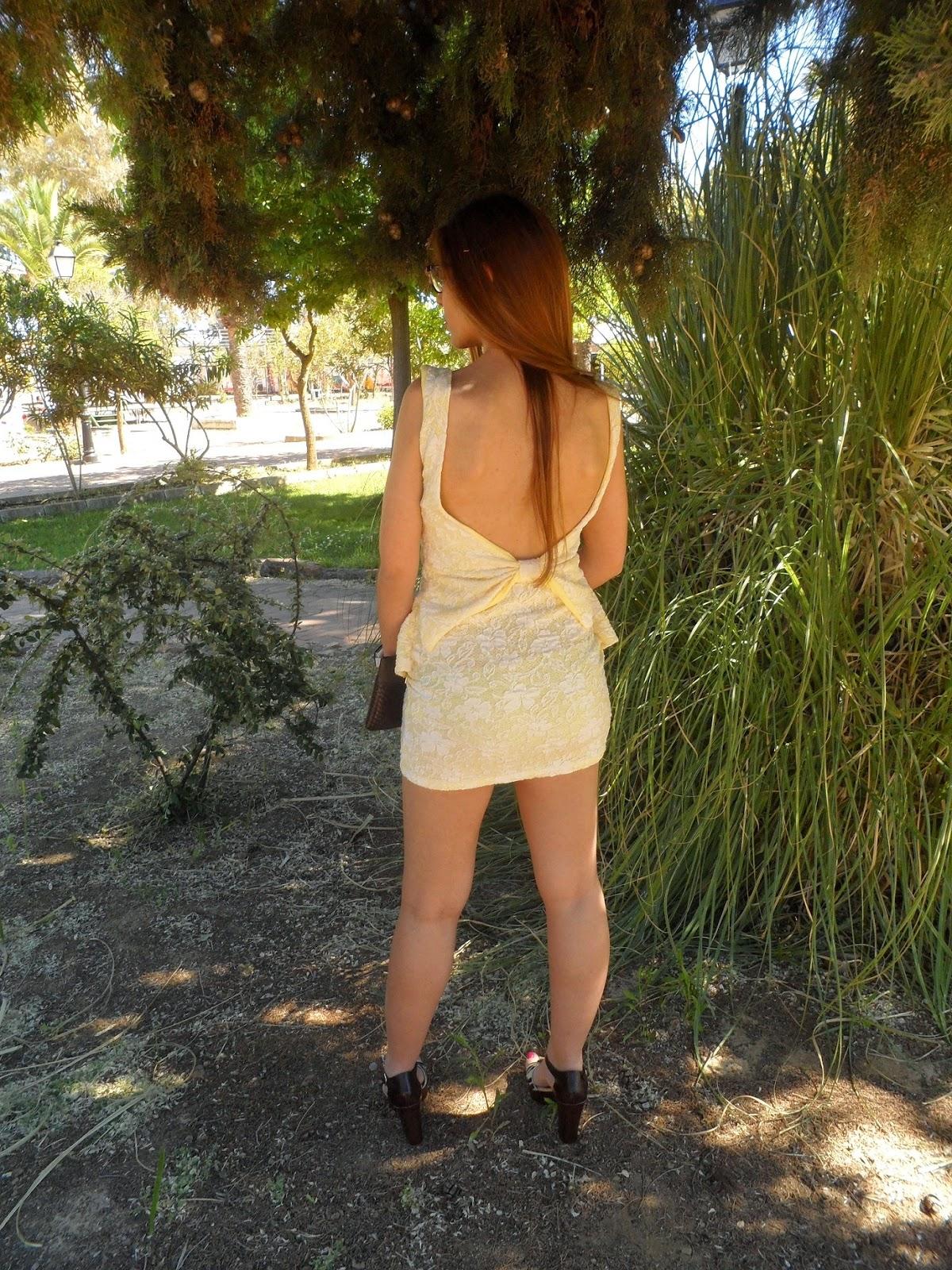 PEPLUM DRESS TIE