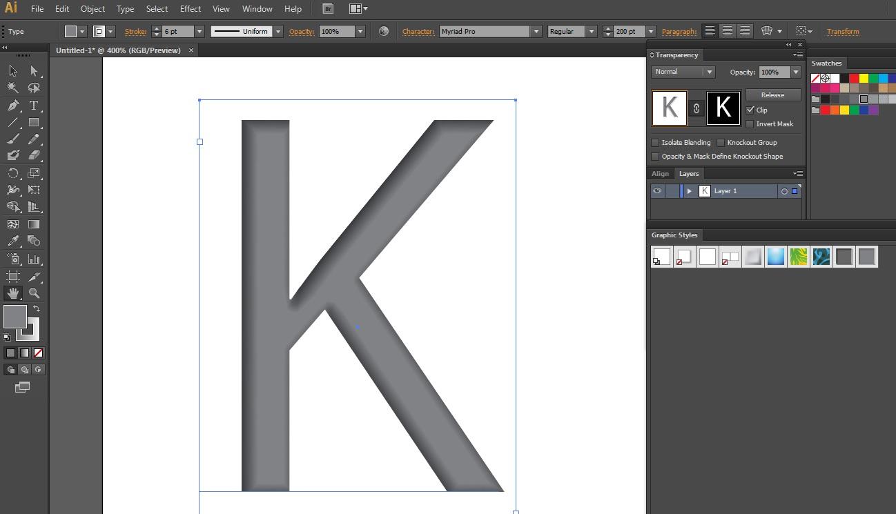 Как сделать тень в иллюстраторе у текста