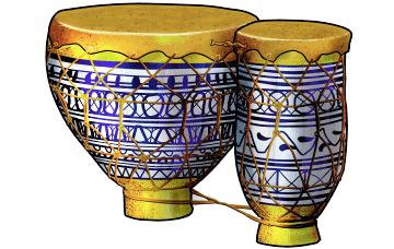 モロッコの太鼓 トバイラ tbilat : Moroccan drum