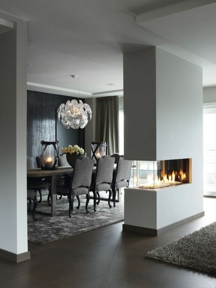 Ideas para separar la sala del comedor colores en casa for Living room ideas no fireplace