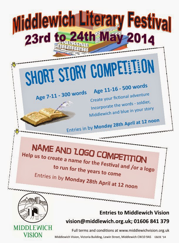 MIDDLEWICH LITERARY FESTIVAL SHORT STORY COMPETITION and NAME & LOGO COMPETITION