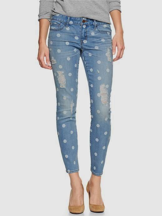 gap polka dot jeans