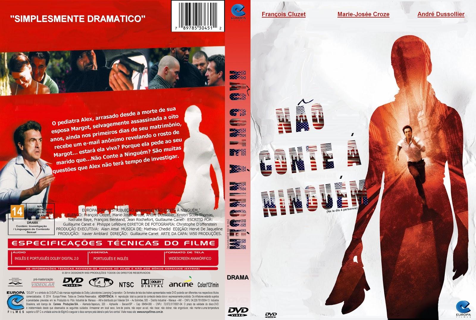 Capa DVD Não Conte A Ninguém
