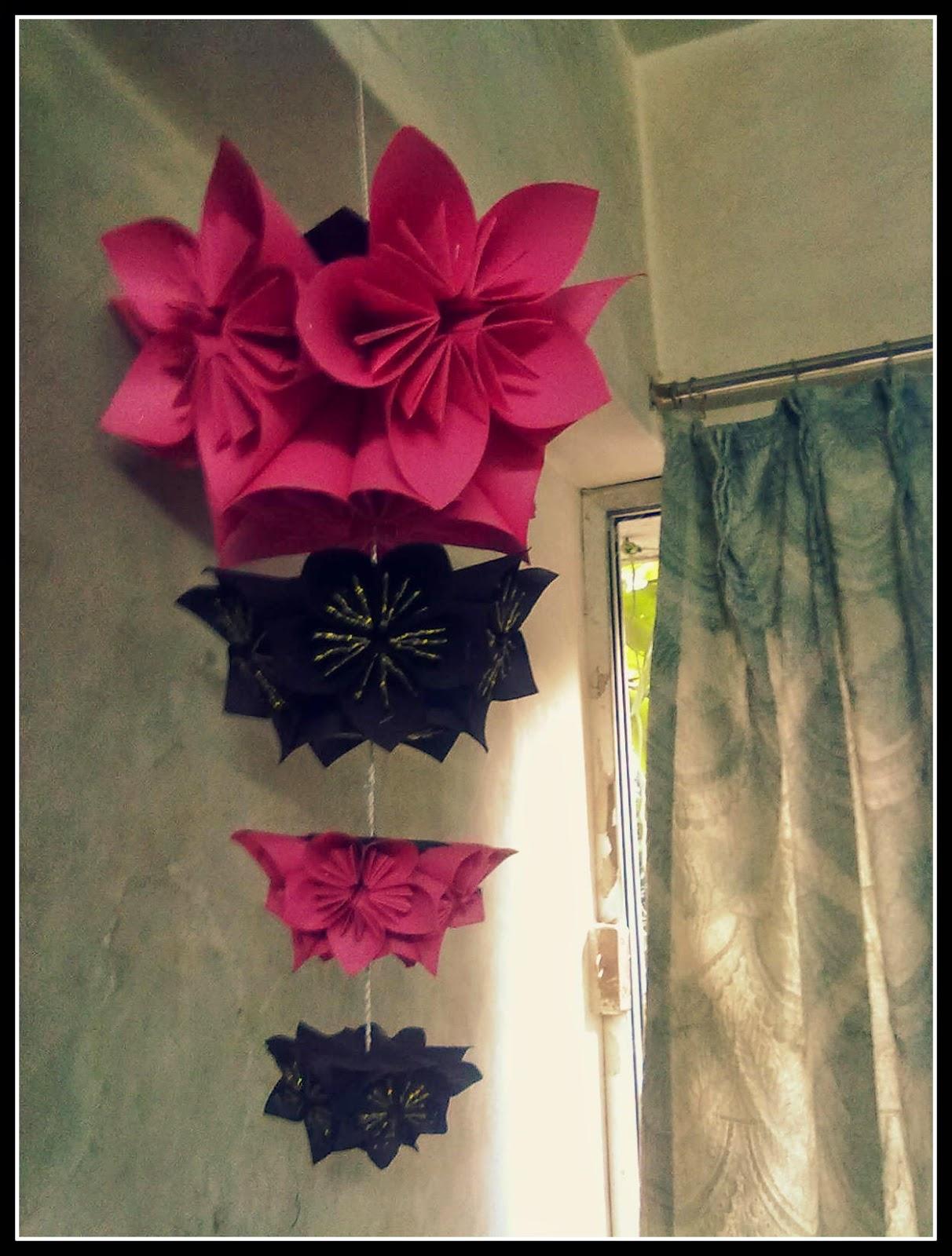 My creativity origami flower hanging origami flower hanging mightylinksfo