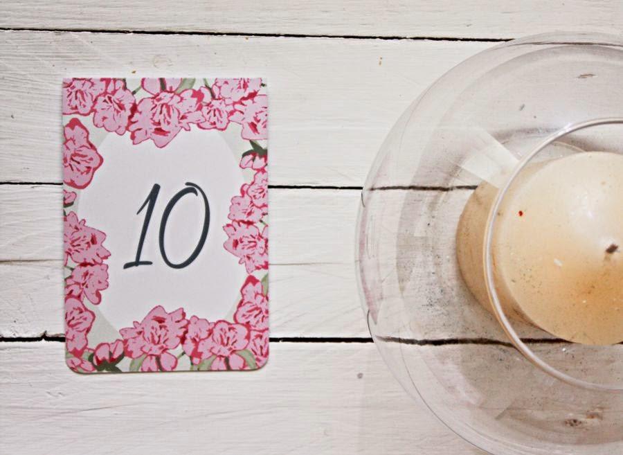 Numeracja stołów na wesele