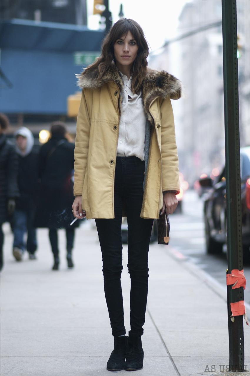 Street Style Celebrities Alexa Chung