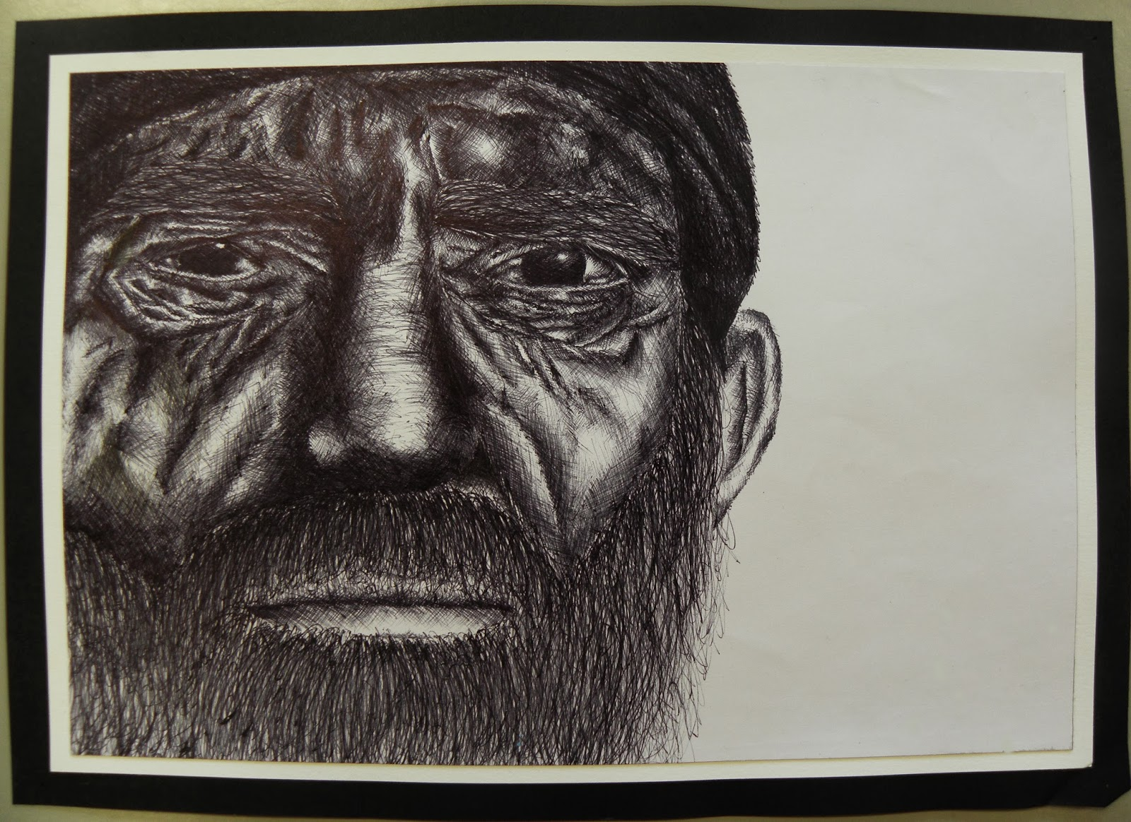 Powerful Eyes Drawing Here is my Biro Drawing of