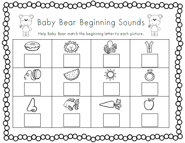 Beginning Sounds Letter K Coloring Pages