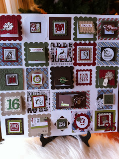 Advent Calendar by Ida Chan, Stampin' Up! Demonstrator, Vancouver