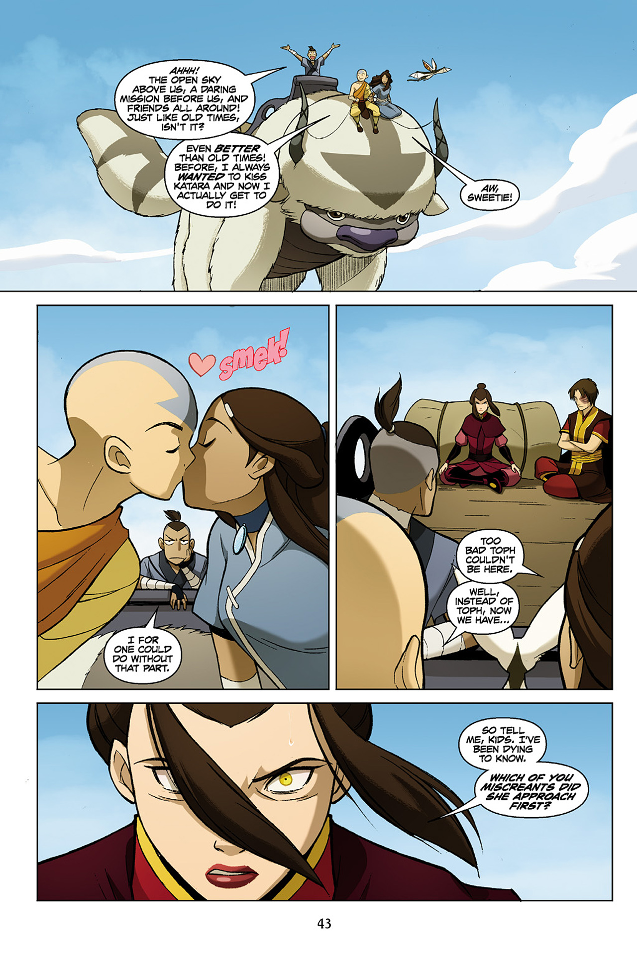 Read online Nickelodeon Avatar: The Last Airbender - The Search comic -  Issue # Part 1 - 44
