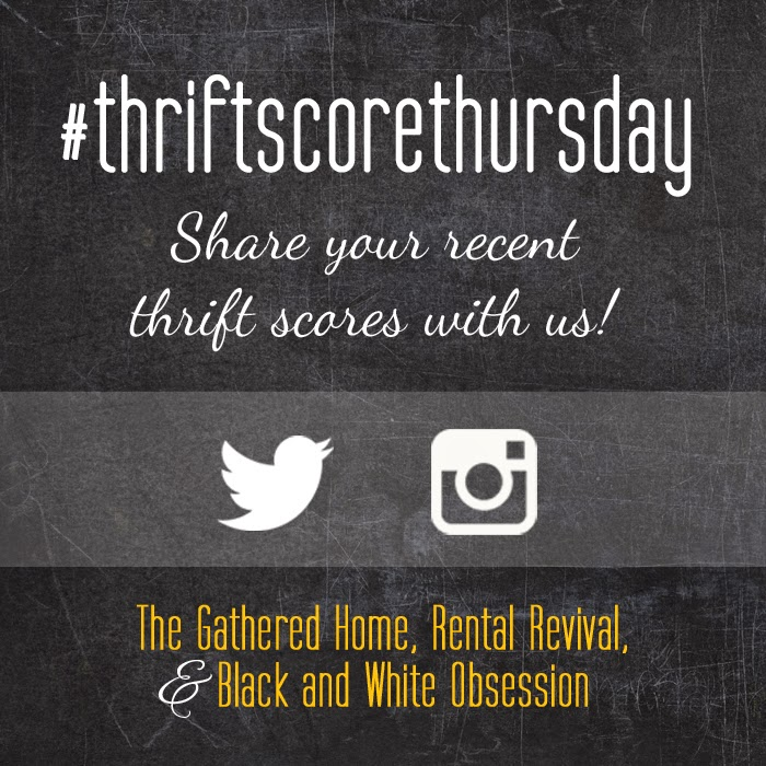 #thriftscorethursday Week 12 | Trisha from Black and White Obsession, Brynne's from The Gathered Home, and Megan from Rental Revival
