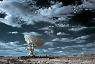 Very Large Array, National Radio Astronomy Observatory, false color infrared, New Mexico