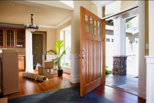 dekorasi pintu rumah minimalis modern