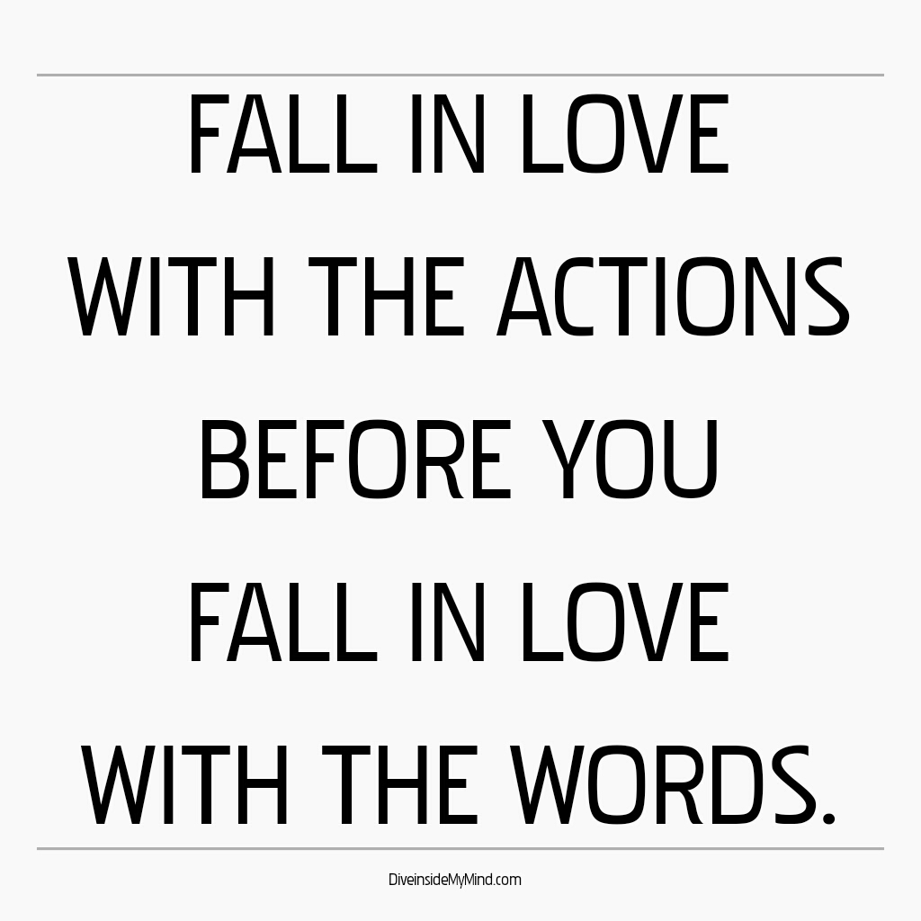 actions vs words