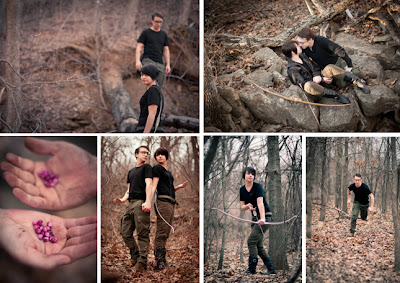 A montage of photos inspired by Peeta and Katniss in the arena by Jess ReNae Photography